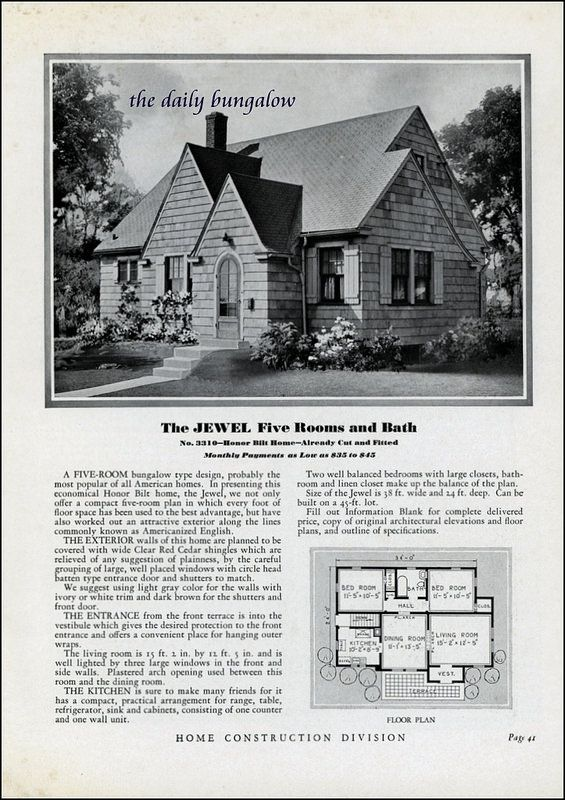 Homes Of Today Sears Kit Houses 1932 Small House Vintage House Plans Kit Homes