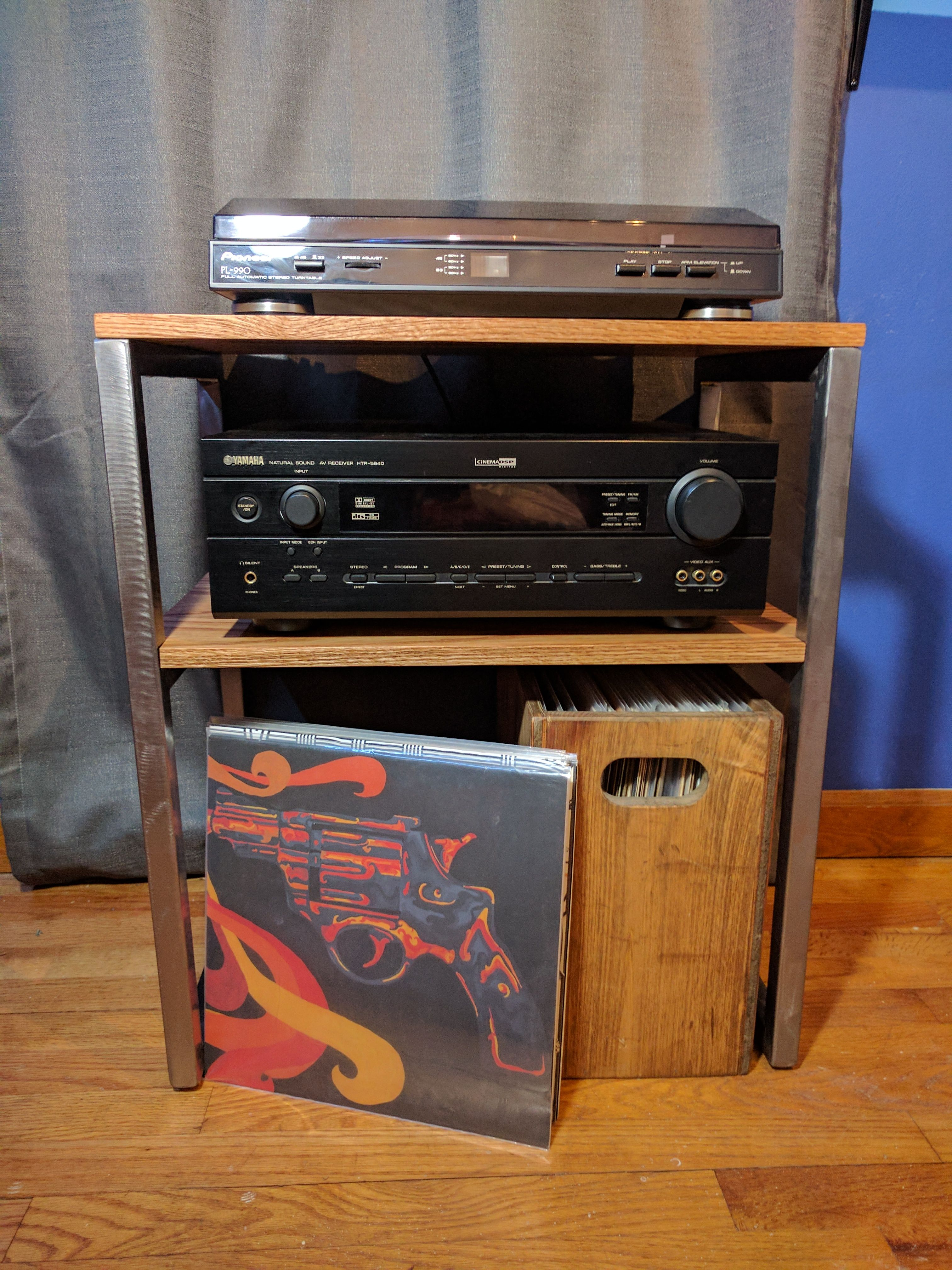 Steel and oak entertainment stand 1st real solo project handmade steel and oak entertainment stand 1st real solo project handmade crafts howto diy solutioingenieria Choice Image
