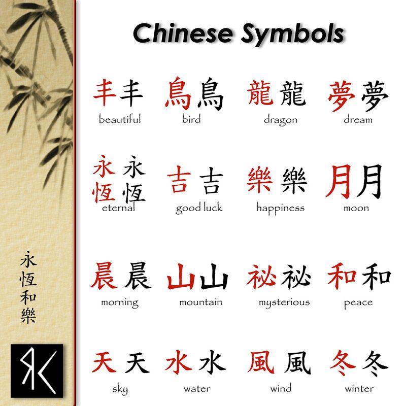 Chinese Symbols Symbolism Pinterest Chinese Symbols Symbols