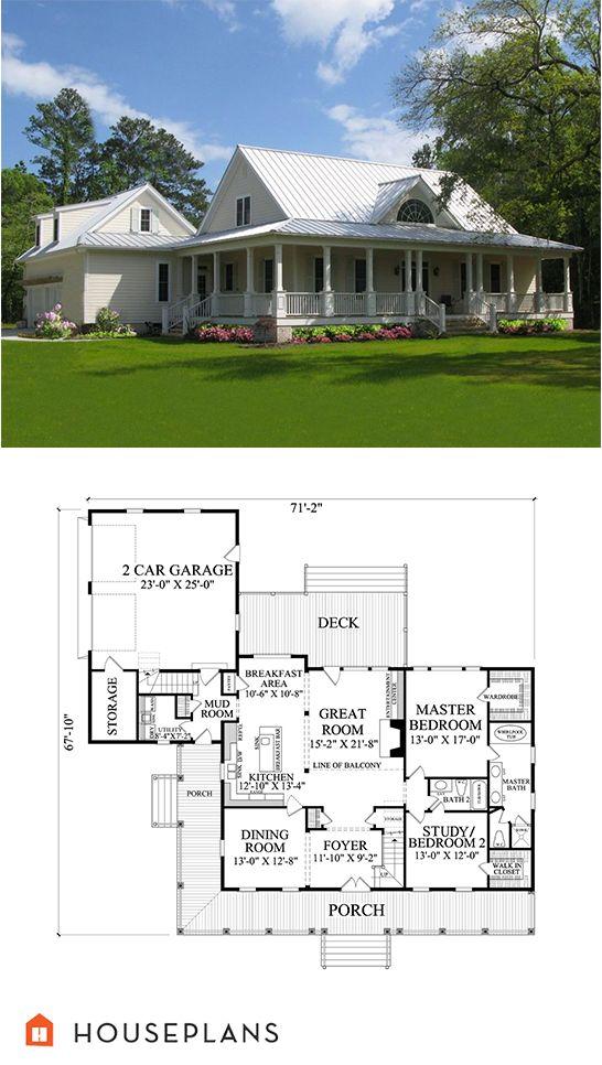Farmhouse Style House Plan 4 Beds 3 Baths 2556 Sq Ft Plan 137 252 Farmhouse Style House Plans Farmhouse Style House Farmhouse Plans