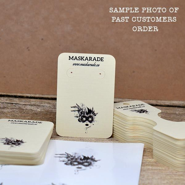 Custom Earring Cards with Your Logo Rounded Corners in