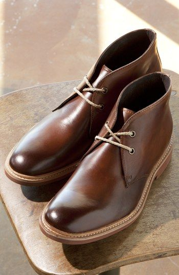 A Very Nice Brown Leather Boots Fits To Any Denim Or Office Pants