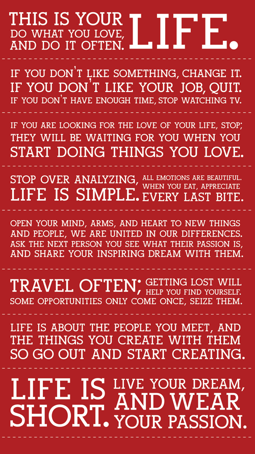 Difference between being alive and Living....L.I.V.E.