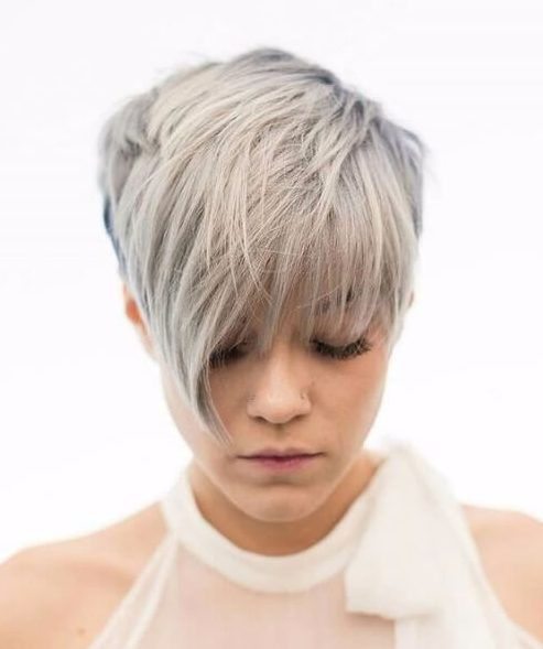 Side Cropped Long Pixie Cut Hairstyles Pinterest Asymmetrical