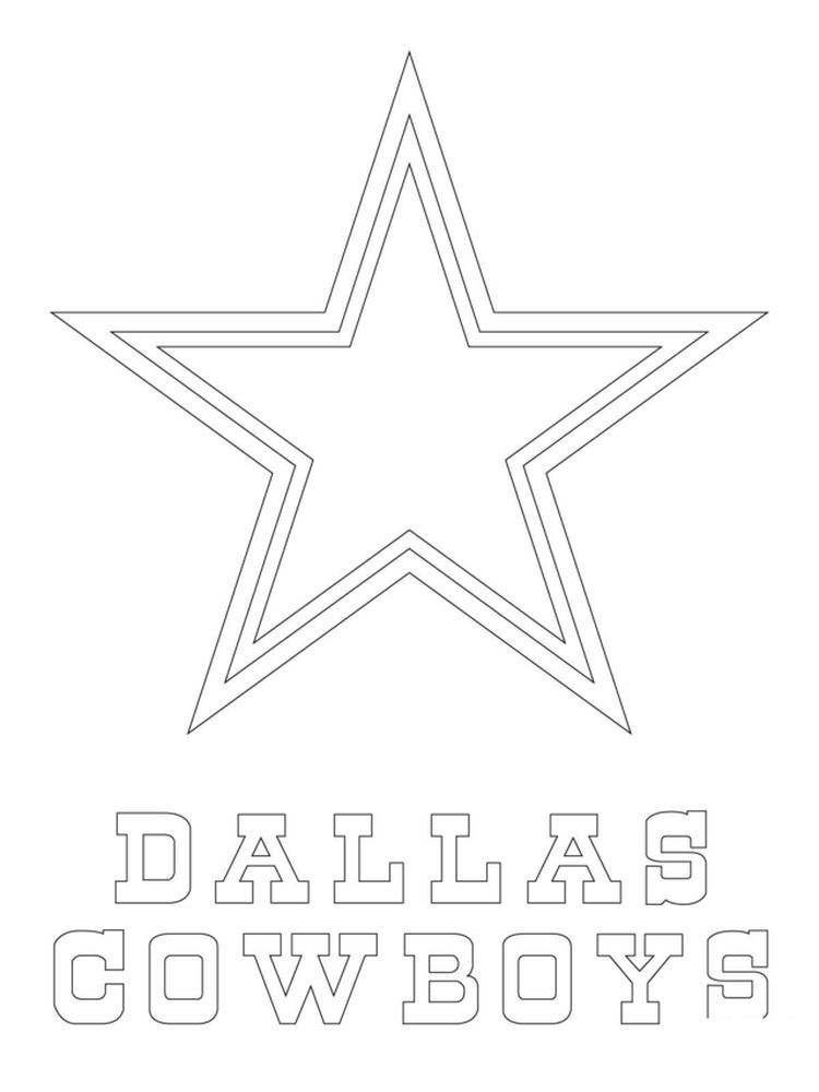 Dallas Cowboys Logo Coloring Page Free Printable Coloring Pages Football Coloring Pages Dallas Cowboys Crafts Dallas Cowboys