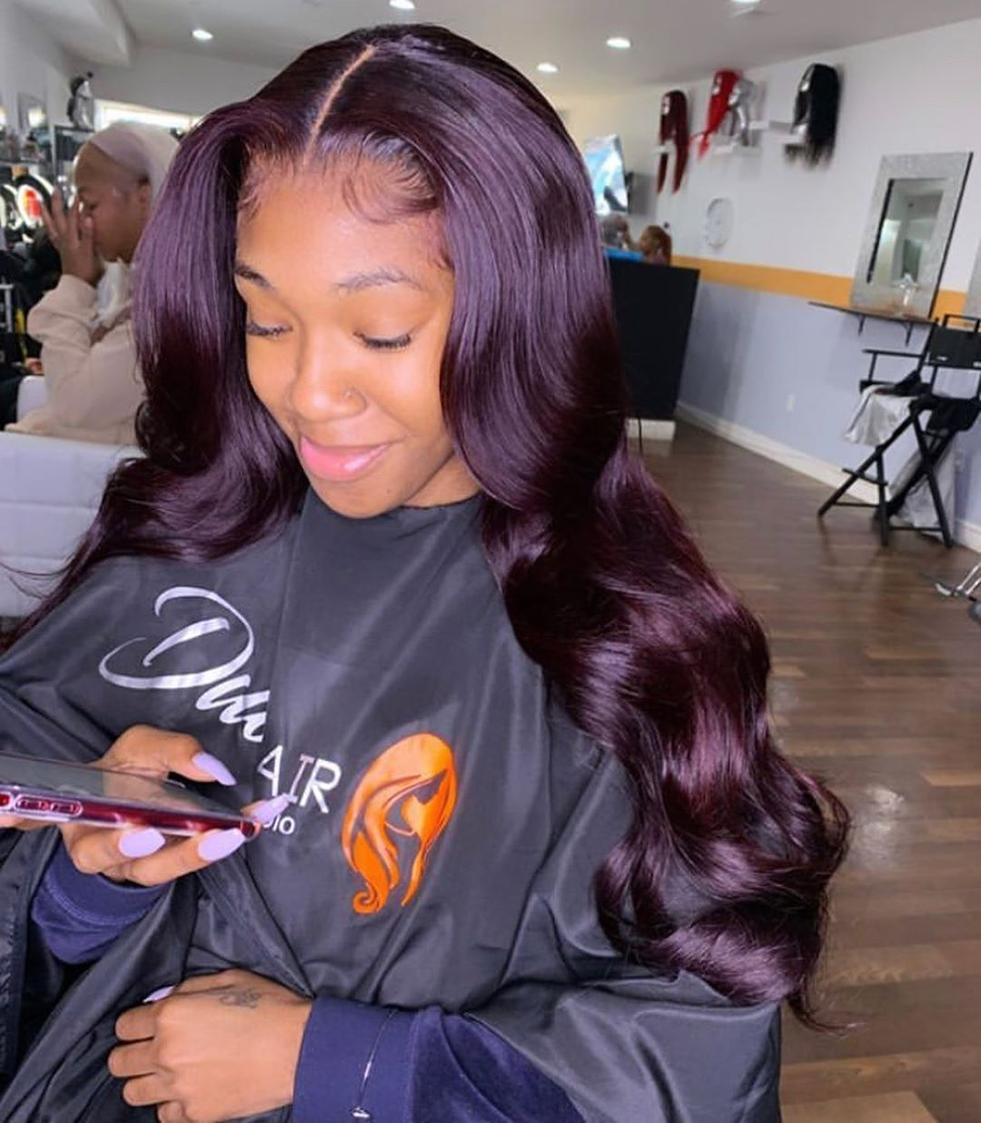 $61.99Customized Pure Purple Wave Full Lace Wig /Front Lace Wig/13x6 Lace Wig 100% Human Hair #lacewigs