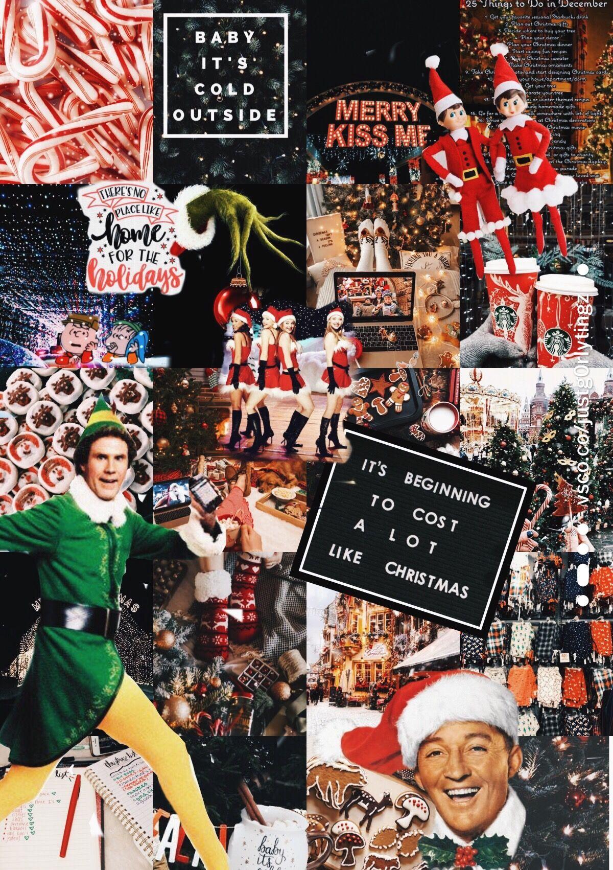 Christmas Collage Wallpaper Cute Christmas Wallpaper Christmas Collage Christmas Phone Wallpaper