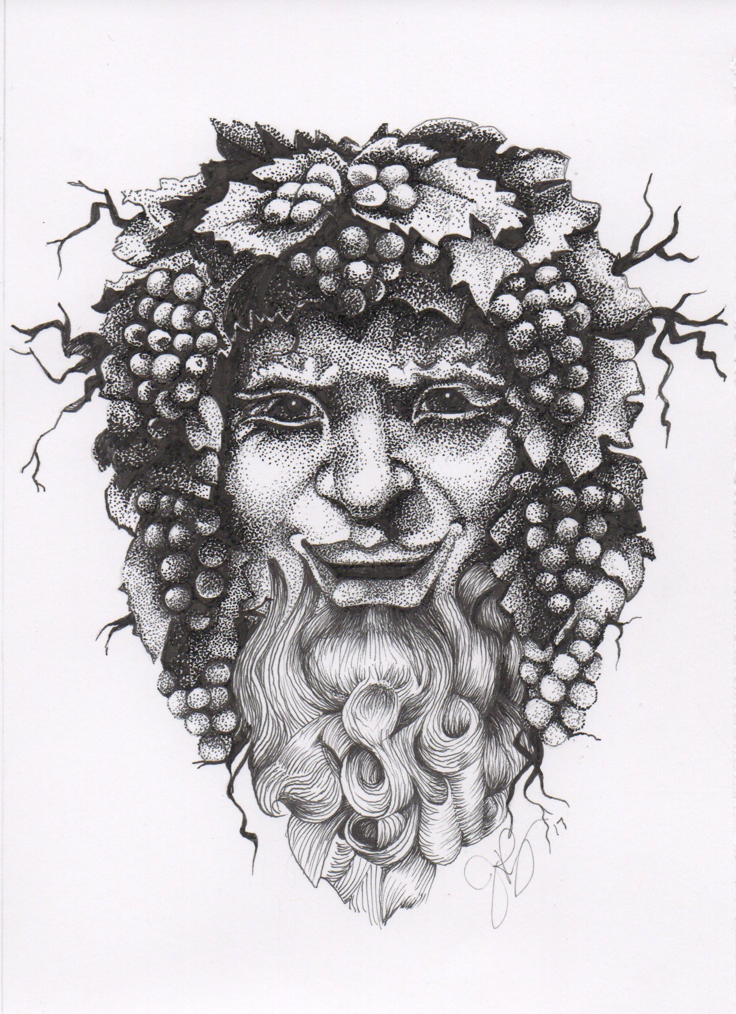 A portrait of Bacchus, god of wine in 2019   My Artwork ...
