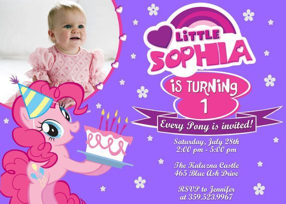 Download My Little Pony Birthday Invitations Ideas For Girl