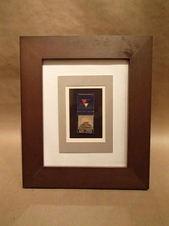 Framed WW2 Matchbook cover.. perf gift!