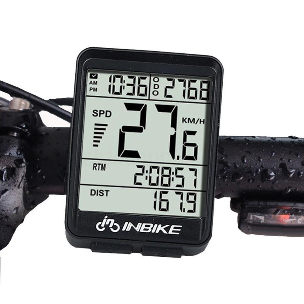 Waterproof Wireless Cycling Bike Bicycle Computer Bicycle Speedometer Odometer - Black