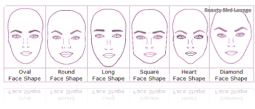 A heart-shaped or square face is balanced out by round eyebrows.