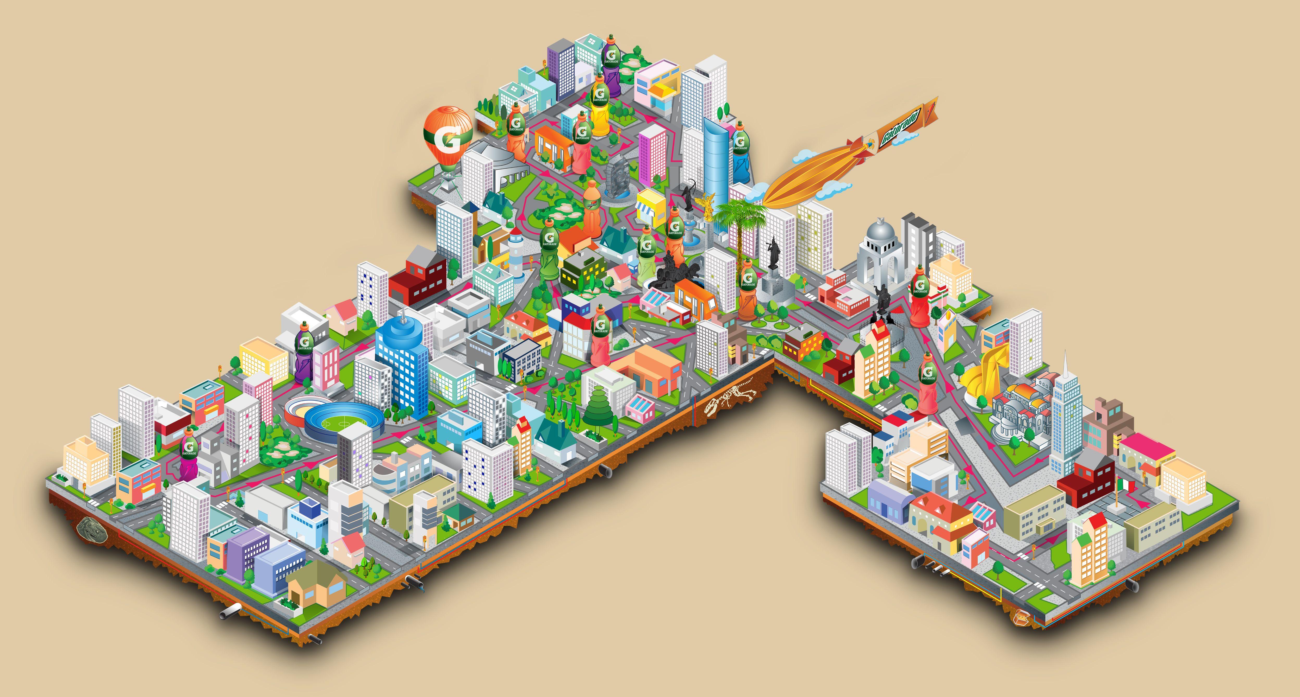 Isometric Mexico City By Icarograf D Pq