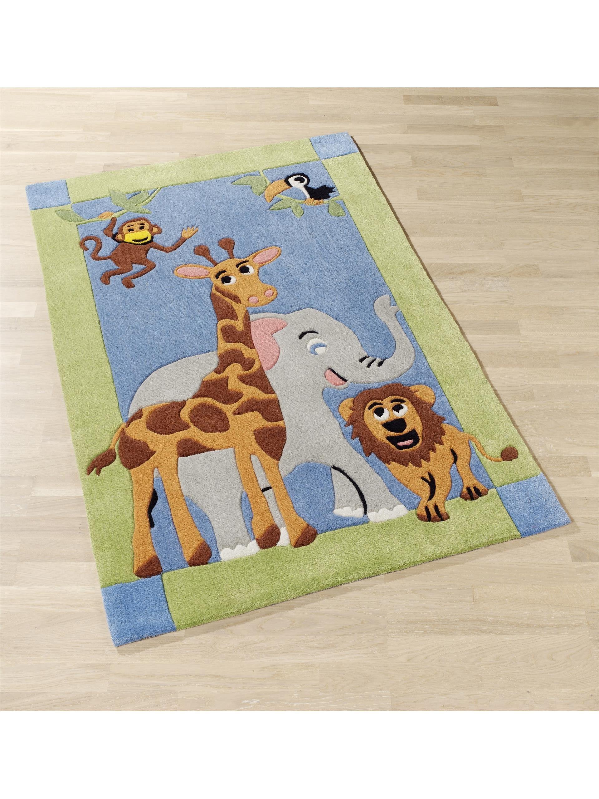 Tappeto bambino Jungle Multicolor Tappeti bambini