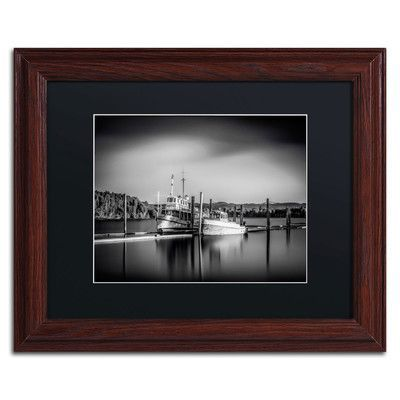 "Trademark Art 'Lake Oyeren III' by Erik Brede Framed Photographic Print Size: 11"" H x 14"" W, Matte Color: Black"