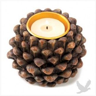 Pine cone tealight holder perfect for outdoor weddings and garden pine cone tealight holder perfect for outdoor weddings and garden parties koyal tea light aloadofball Image collections