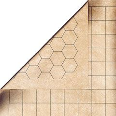 Battle Mat - 1 inch squares / hex reversable dry wipe combat mat. £14.50 plus delivery. Ideal for dungeons and dragons or any other RPG using roughly 25mm to 30mm scale figures. Available worldwide from www.legendgames.co.uk