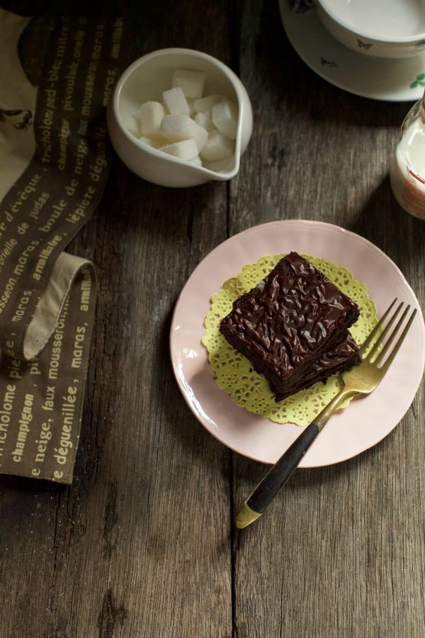 Chocolate Brownies Kedut Masam Manis Brownies Cokelat Makanan Brownies