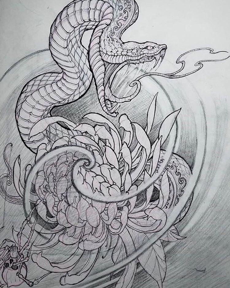 Pattern Geometric Tattoos Patterntattoos In 2020 Japanese Tattoo Japanese Snake Tattoo Snake Tattoo Design