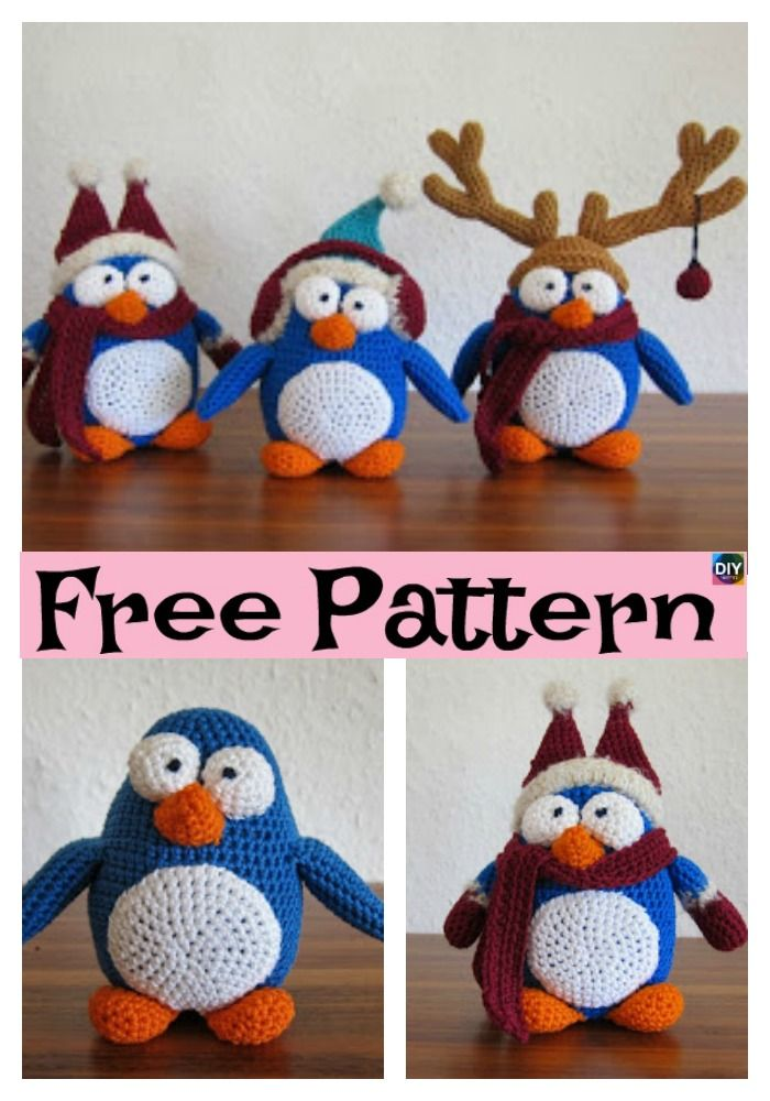 Adorable Crochet Winter Penguin - Free Pattern | Amigurumi free ...