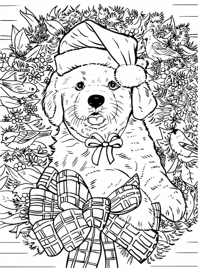 New Christmas Coloring Books That Are Purr Fect For The Howl Idays Puppy Coloring Pages Christmas Coloring Books Coloring Books