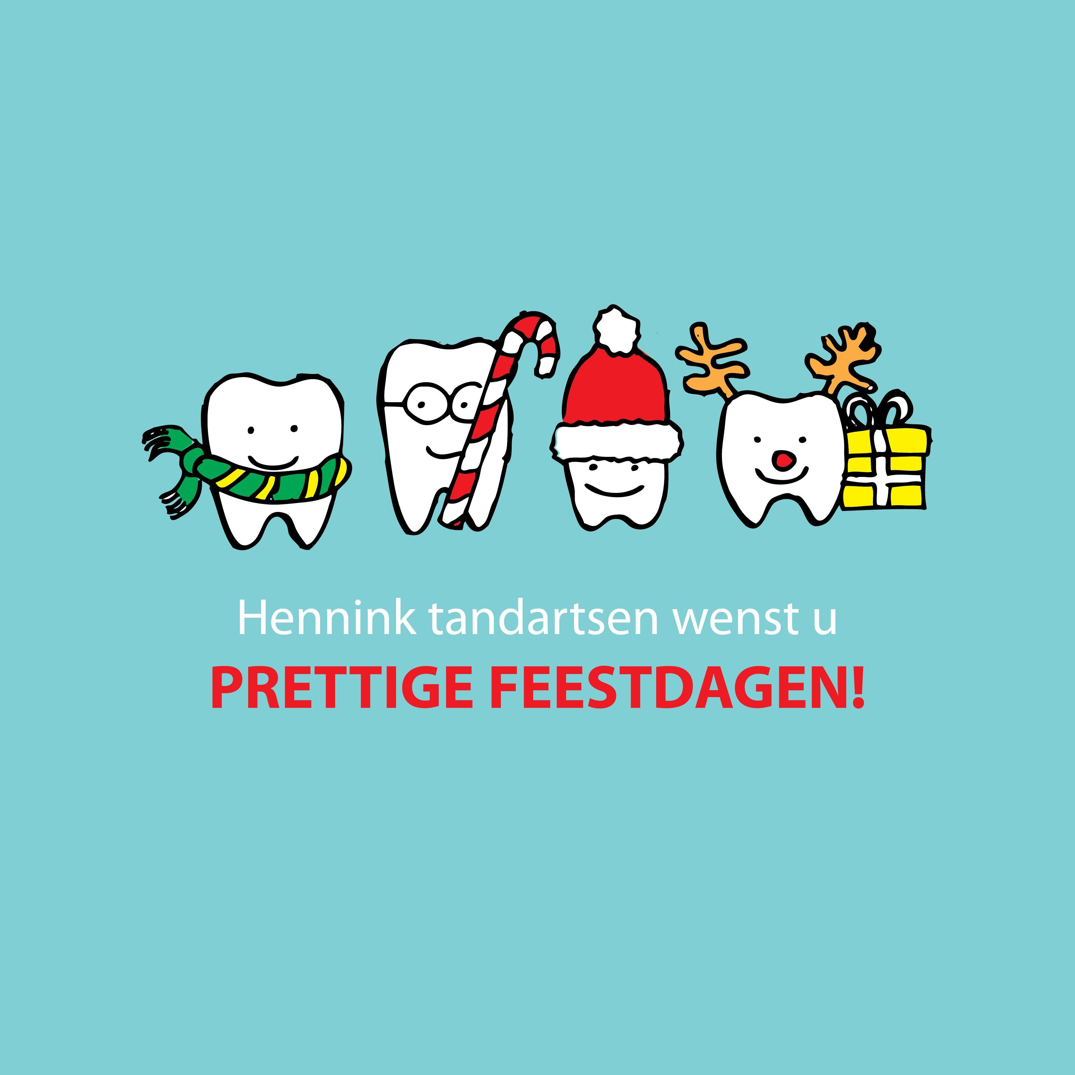 kertskaart Hennink tandartsen christmas card dentist | natal ...