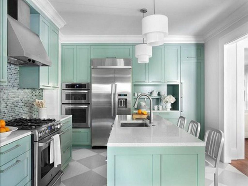 Wonderful Look of Green Paint Colors For Your House : Cool Mint ...
