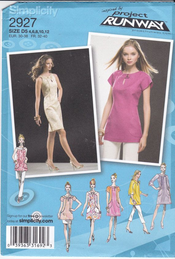 Dress Sewing Pattern Sleeveless Dress Keyhole by Ziatacraft