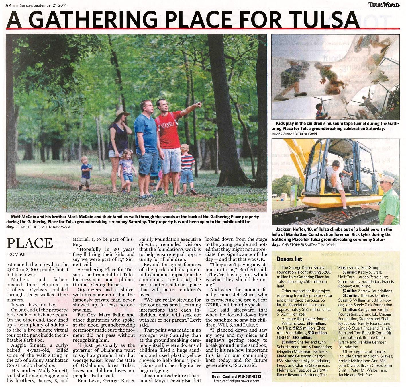 Article In Tulsa World