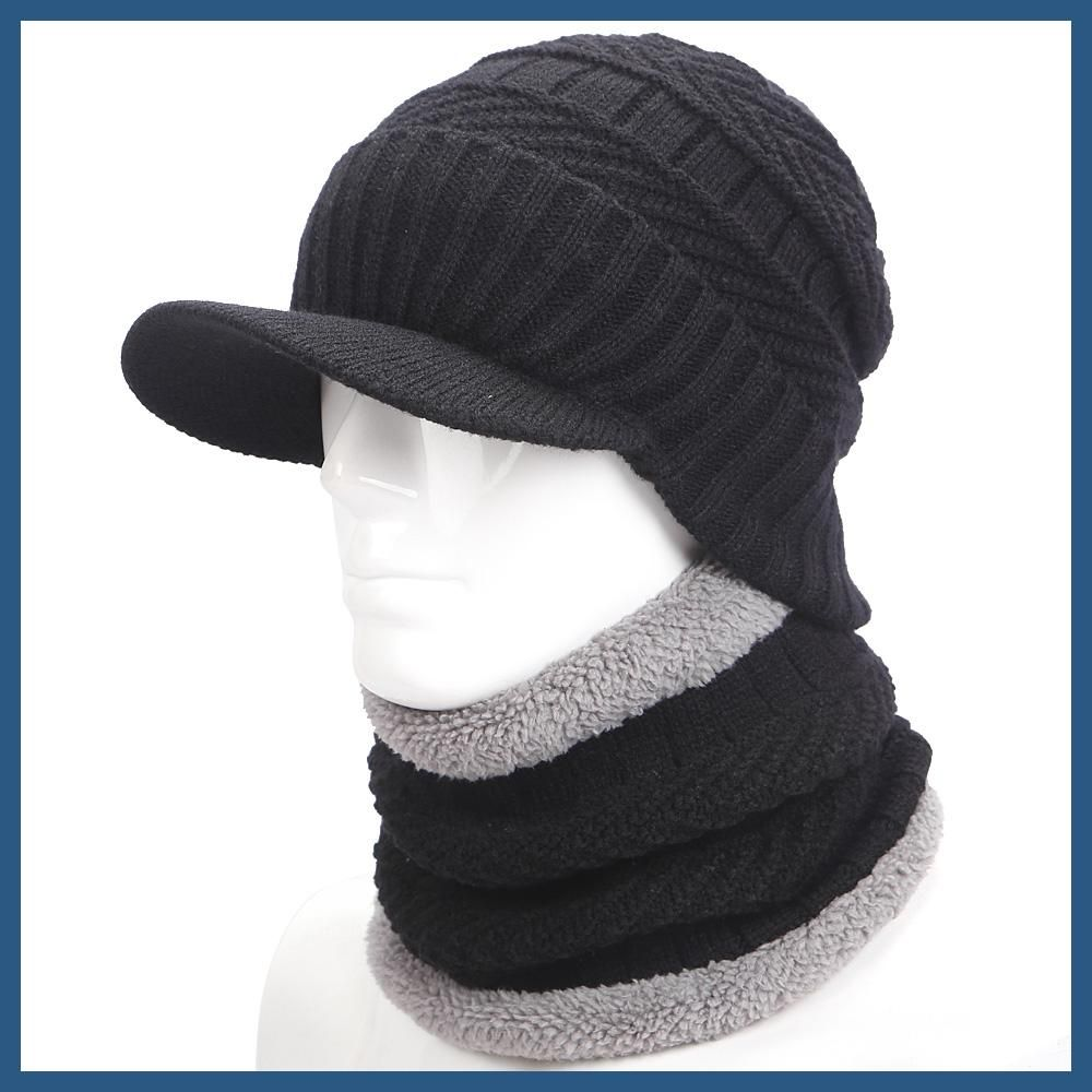 warmer winter hat knit cap scarf cap Winter Hats For men knitted hat men  Beanie Knit Hat Skullies Beanies Men Beanies Cap MY ad471184934