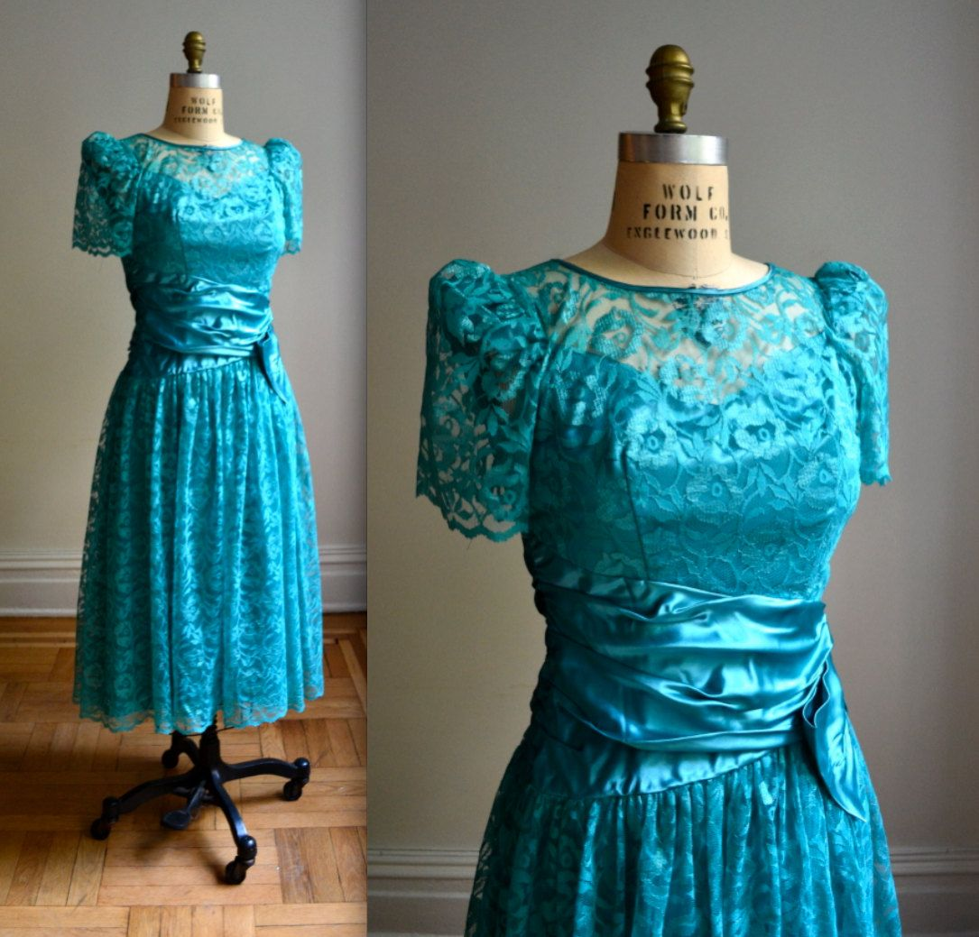 Bridesmaid Dresses | Wedding! | Pinterest | Vintage lace, Teal and ...