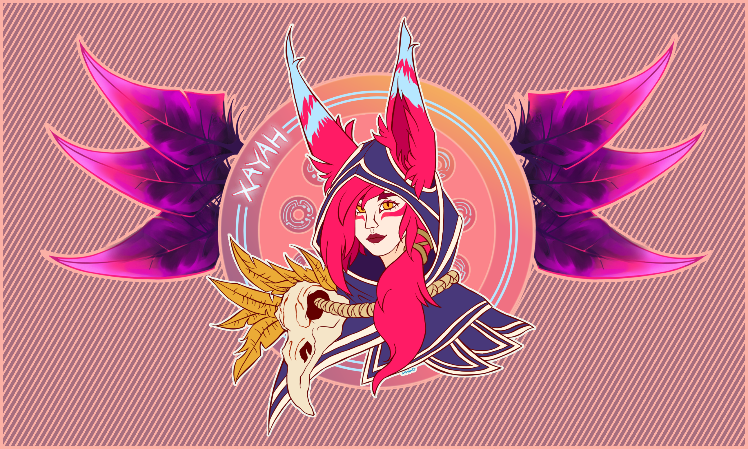 Xayah Birthday Gift By Skelionams Birthday Gifts Xayah And Rakan Birthday