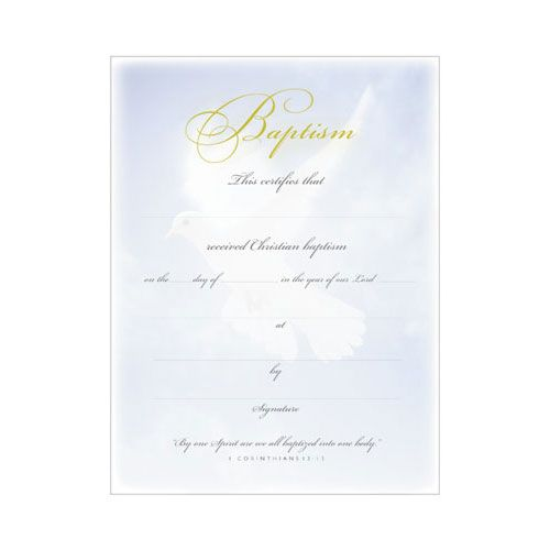 Printable Fillable Certificate of Baptism Printable Baptism - life membership certificate template