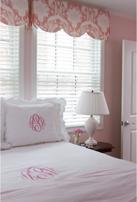 Scallop Bedding Pelmet Box Cornice Over Window Bed In