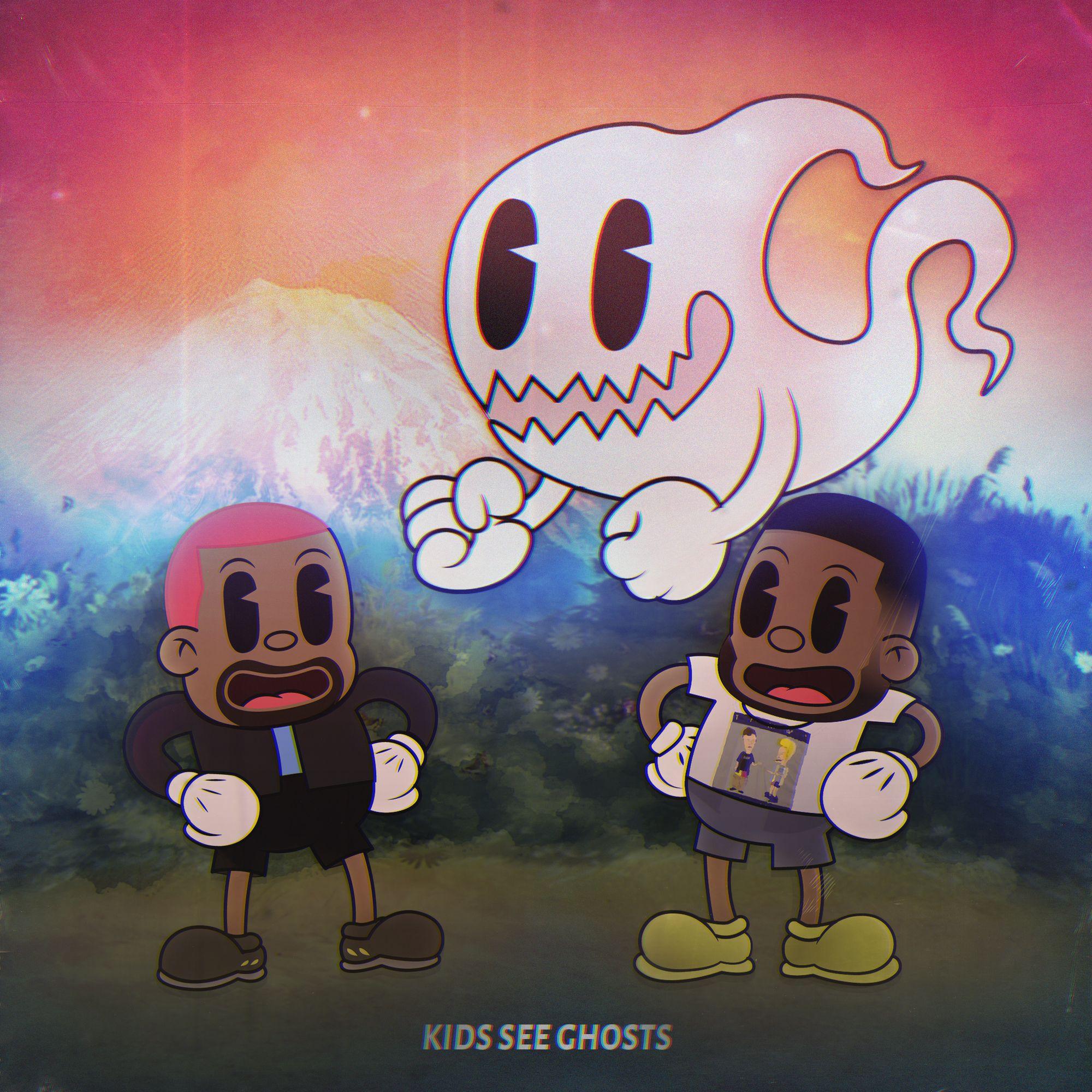 Kanye West and Kid cudi's kids see ghosts as a cartoon ...