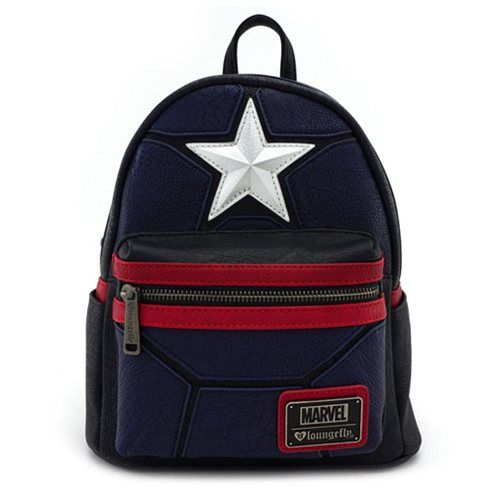 Captain America Cosplay Mini-Backpack Loungefly Captain America Backpacks 981d7d2a0dfe4