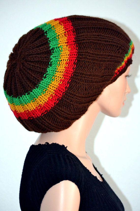 d342ed815bc Knitted Rasta Tam  Handmade Dread Tam  Rastafarian Tam  Unisex ...