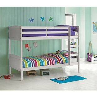 Home Detachable White Bunk Bed Frame White Bunk Beds