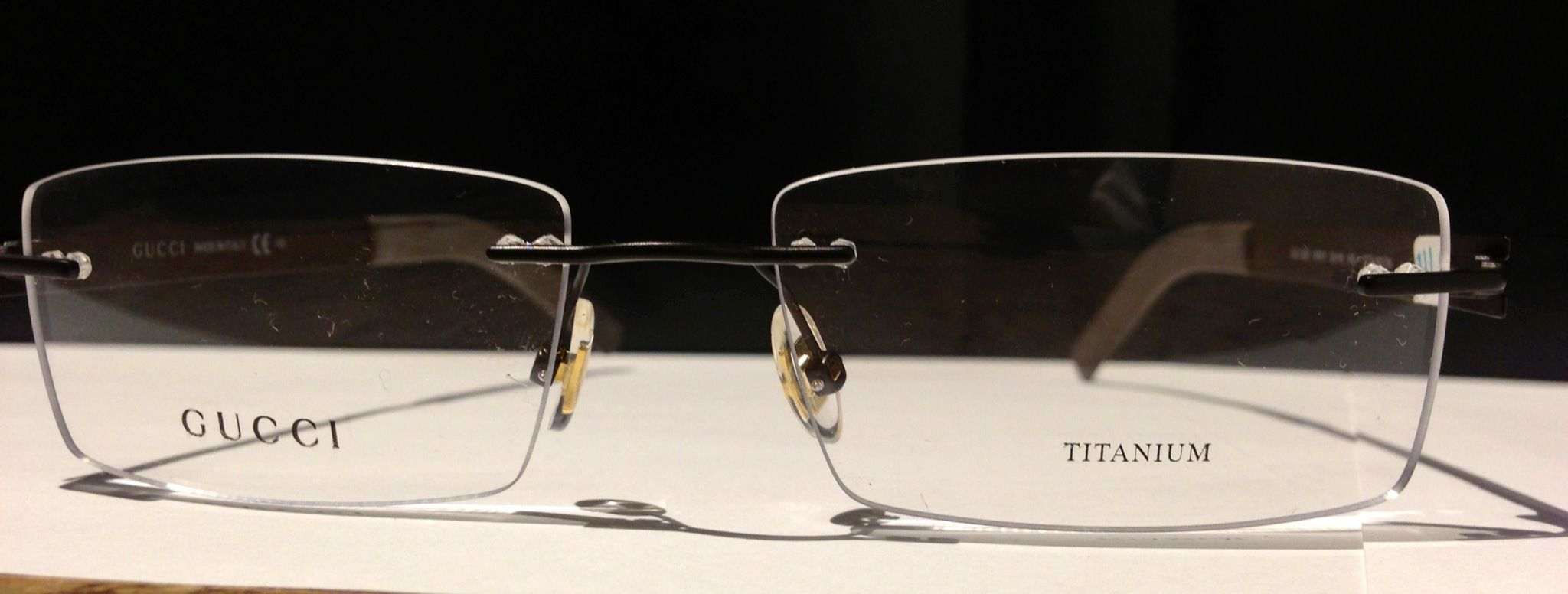 a71a791a885b0 Frameless Gucci Titanium. Find this Pin and more on Our Frames ...