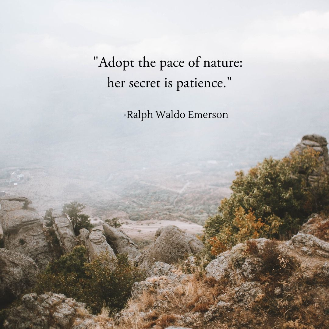 Inspired by nature emerson quote inspirational