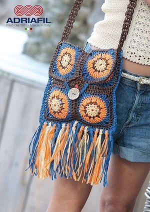 Adriafil Rafia ANTHE Bag Crochet Pattern,  #Adriafil #ANTHE #bag #crochet #Pattern #rafia
