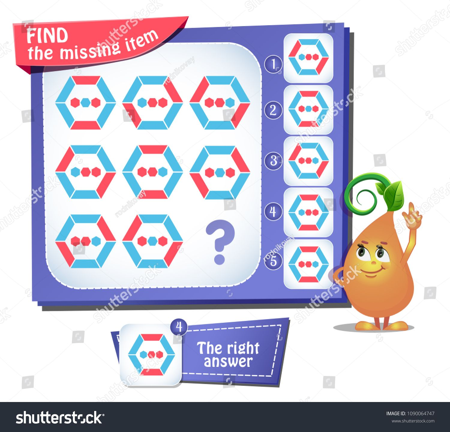 Educational Game For Kids And Adults Puzzle Development Of Logic