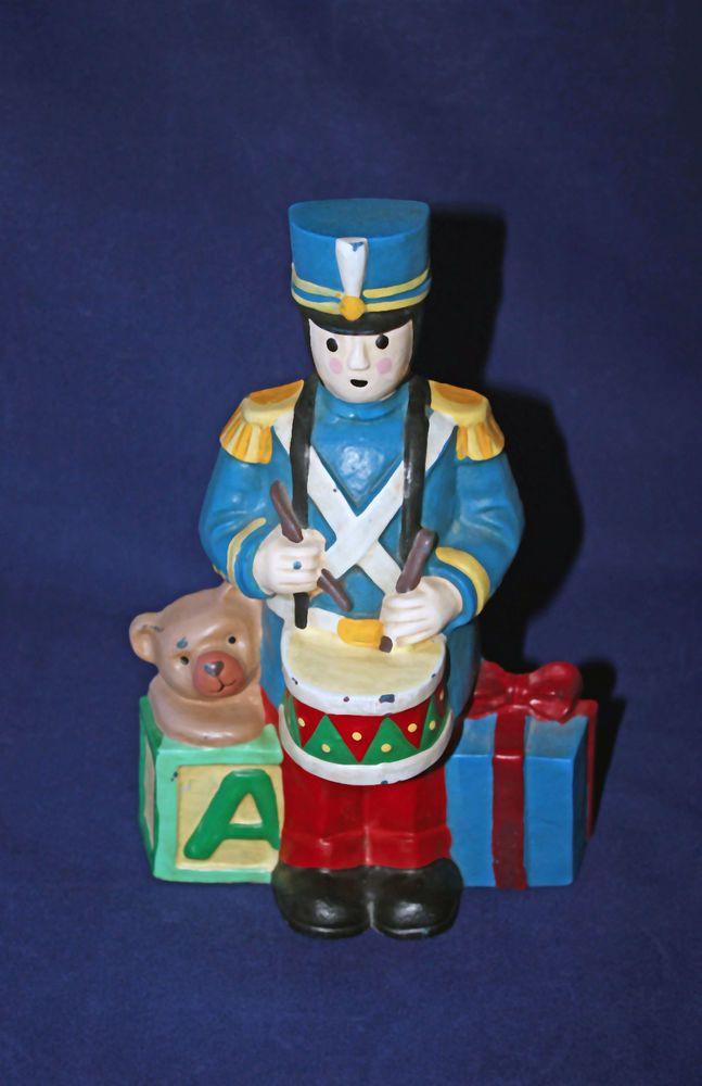 Vintage Cast Iron Doorstop Drummer Boy Bear Gifts Christmas