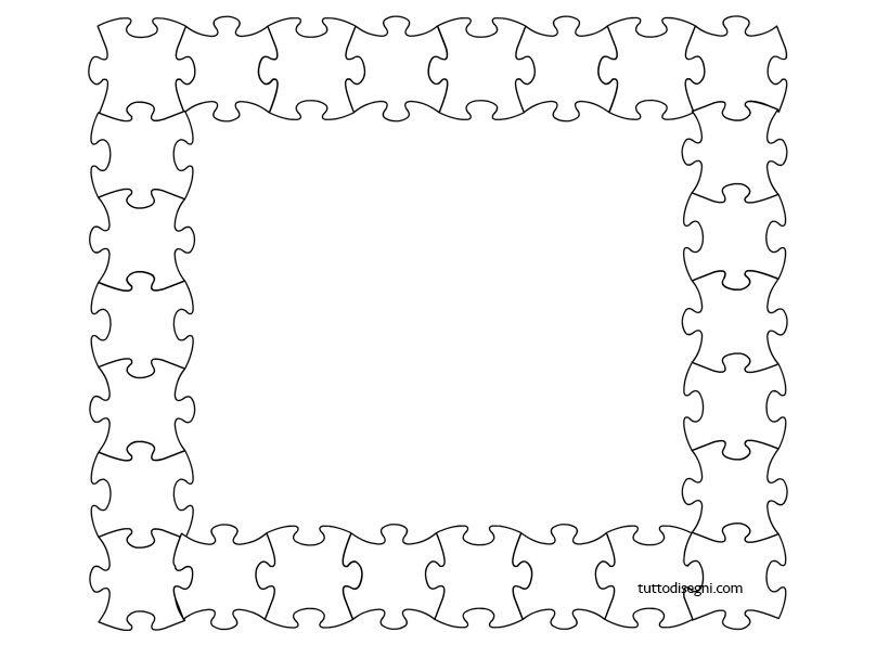 Puzzle cornicette bordi per copertine pinterest for Cornici semplici per foto