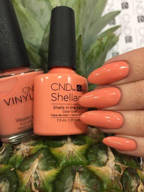 CND Shellac Rhythm & Heat: Shells in the sand