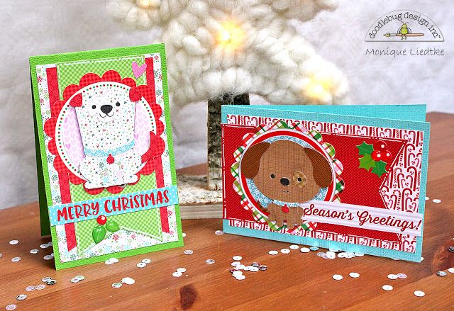 Doodlebug Design Inc Blog: NEW Puppy Love Collection Cut Files Released with Cards by Monique