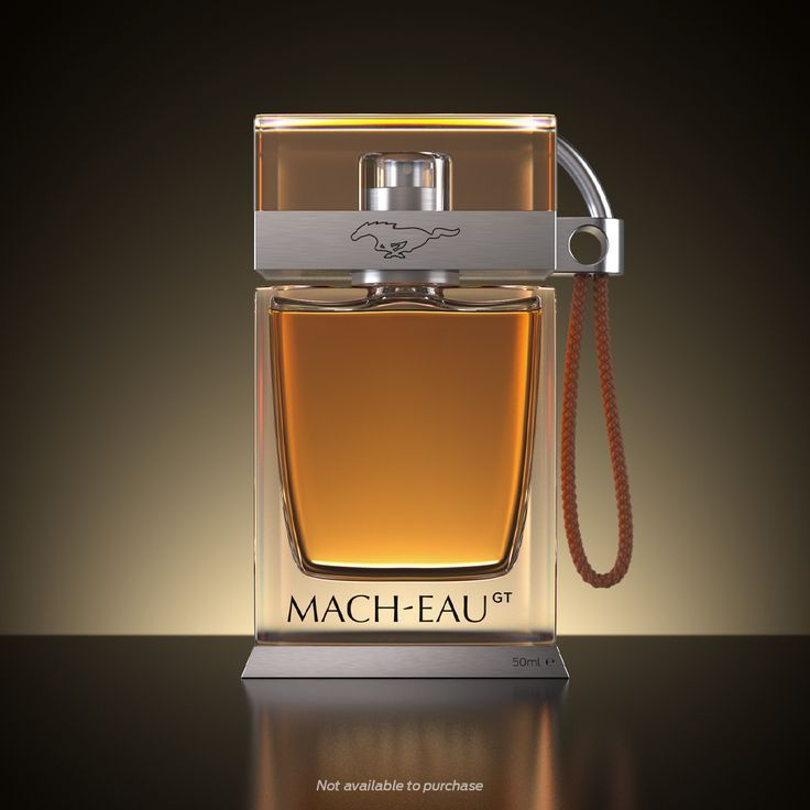 Perfume com cheiro de gasolina Ford Mach Eau