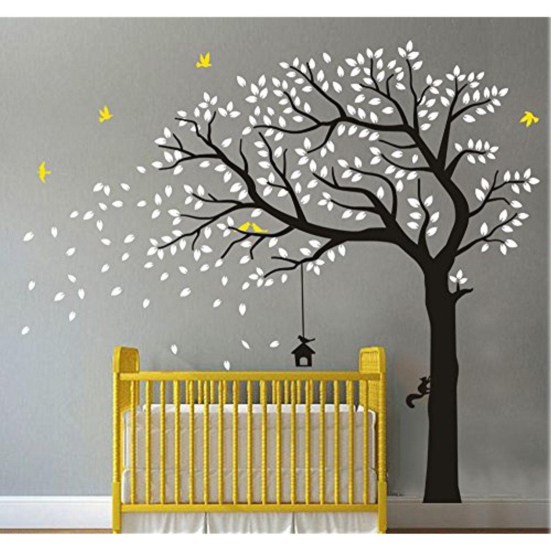 Black Tree Flying Birds Wall Decals Vinyl Wall Sticker Wall Art