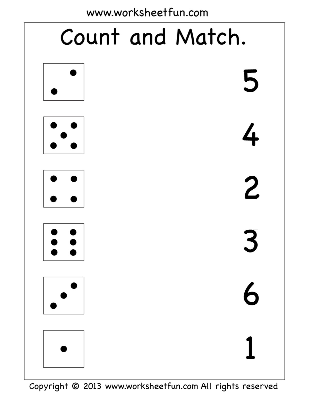 Count and match worksheet   Printable preschool worksheets [ 1553 x 1200 Pixel ]