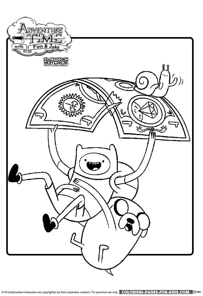 adventure time mutually suspended coloring pages - Jake Coloring Pages